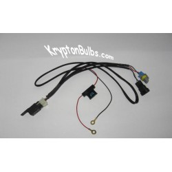 Single Beam Two Bulb HID Relay Harness